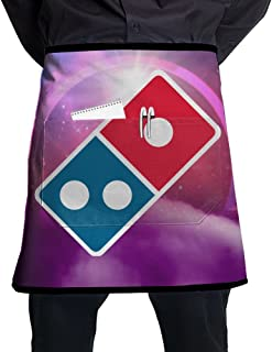 Bralla Domino€s Pizza Logo Half Body Waist Apron with Pocket for Bartenders, Cooking