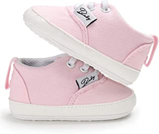 Infant Baby Boys Girls Canvas Toddler Sneakers Rubber Anti-Slip First Walkers Candy Shoes
