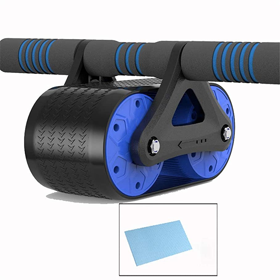 近代化熱心な効率的にAbローラーホイール 余分厚い膝パッドマット - 体力強度トレーニングマシンABホイールジムツールと腹部エクササイズローラー 腹部トレーニング機 (色 : 青, サイズ : 35*15*9.5cm)