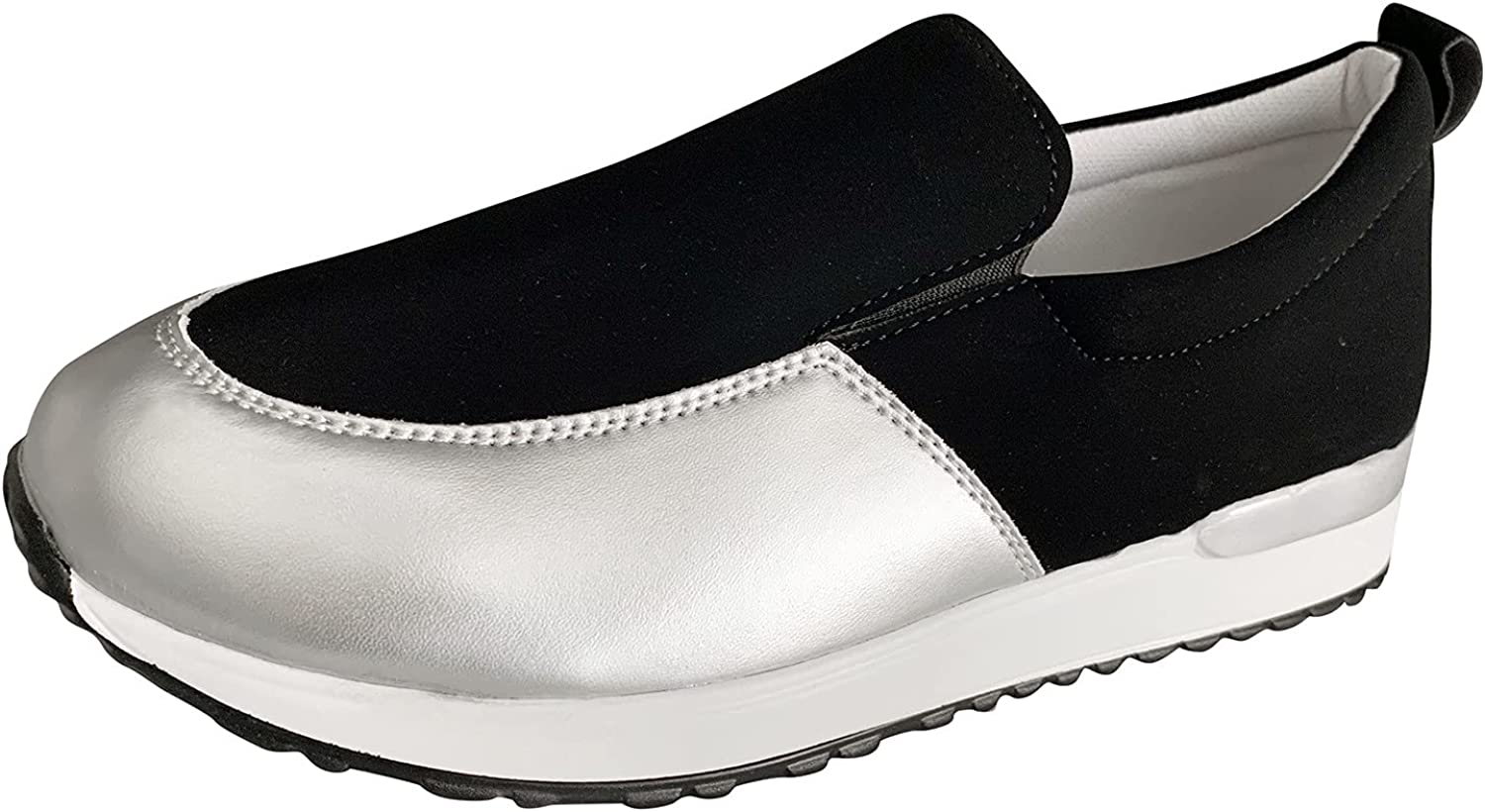 FAMOORE Women's Mules & Clogs Women Slip On Fashion Sneakers Mesh Sports Runing Breathable Waliking Shoes Women Comfort Wedge Platform Loafers