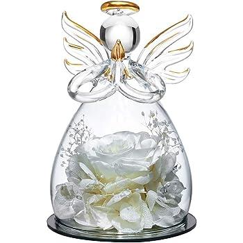 バレンタインデーローズギフト-バースデーギフトエターナルフラワーローズ-子供の日のギフト枯れなかったバラ-記念日のギフト手作りプリザーブドフラワーローズ (white)
