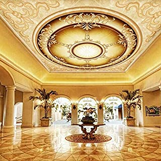 Custom Any Size Tapety Non-Woven European-Style Medieval European Style Hotel Living Room Ceiling Waterproof Mural 3D Wallpaper cchpfcc-200X140CM