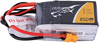 Tattu 14.8V 4S 75C 850mAh LiPo Battery Pack with XT30 Plug for Multirotor FPV from Size 100 to 180 Owl Racing Quadcopter