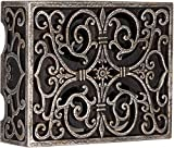 Craftmade CAB-RC Designer Carved Box Door Chime, Hand Painted Renaissance Crackle (6.75'H x 8.5'W)