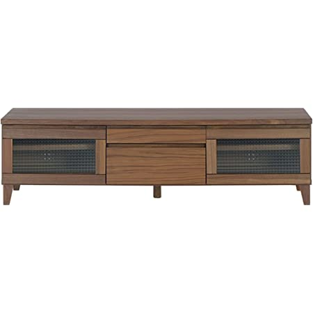 ISSEIKI テレビボード TVボード ウォルナット材 幅150cm 選べる3サイズ 木製家具 FLOCK-2 150 TV (WALNUT)テレビ台 ワイドサイズ 北欧家具 リビングインテリア