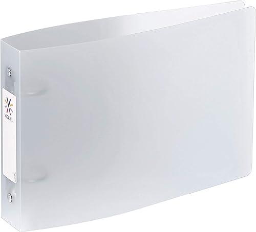 Viquel - Classeur à fiches Bristol avec étiquettes d'identification - 2 anneaux - Format A5 (25x16,5cm) - Incolore