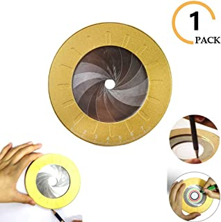 Round Circle Drawing Maker Tool Adjustable Measurement Stainless Steel Otary Adjustable Measuring Ruler Templates Circle Drawing Tool For Drafting Drawing Metal Aluminum (1 PACK)
