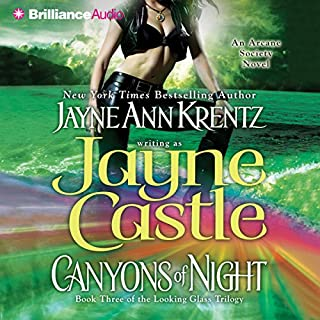 Canyons of Night     Book Three of the Looking Glass Trilogy              Written by:                                                                                                                                 Jayne Castle                               Narrated by:                                                                                                                                 Joyce Bean                      Length: 4 hrs and 36 mins     Not rated yet     Overall 0.0
