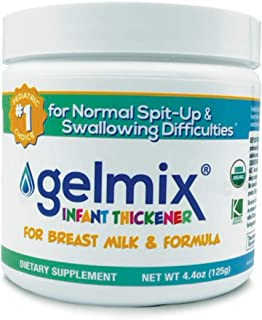 USDA Organic Gelmix Infant Thickener for Breast Milk and Formula, 4.4oz Jar