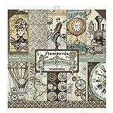 STAMPERIA Voyages Fantastiques-Bloc de Papel (10 Hojas, Doble Cara), Multicolor, 30.5 x 30.5 (12' x 12')