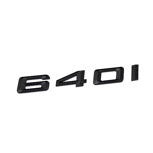 BMW E63 E64 F06 F12 F13 6-Series Matte Black Trunk Lid Emblem Badge Letters 640d
