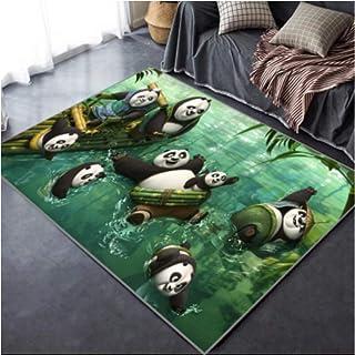Alfombra De Dibujos Animados En 3D Anime Kung Fu Panda Sala De Estar Dormitorio Habitación De Los Niños Vestíbulo Mesa De Centro Guardarropa Juegos Europeos para Jóvenes Cojín Cómodo Al Aire Libre