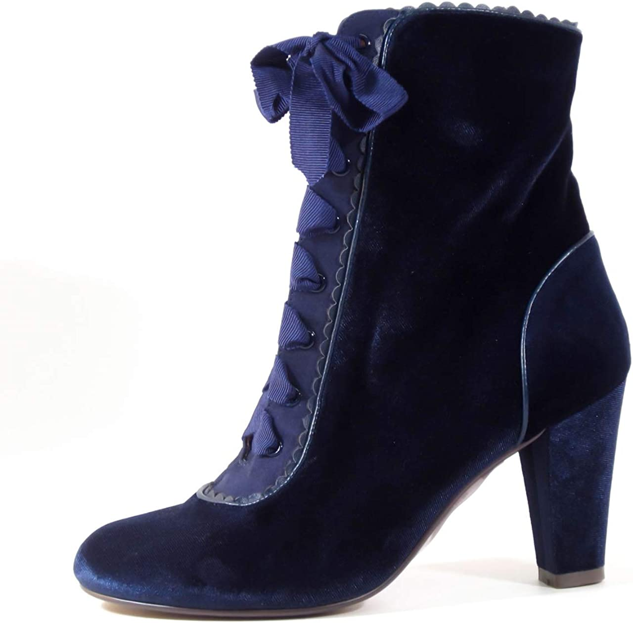 History of Victorian Boots & Shoes for Women Chelsea Crew Victoria Womens Velvet Booties  AT vintagedancer.com