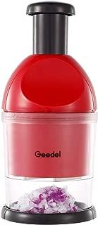Geedel Food Chopper, Easy to Clean Manual Hand Chopper Dicer, Dishwasher Safe Slap Press Chopper for Vegetables Onions Garlic Nuts Salads