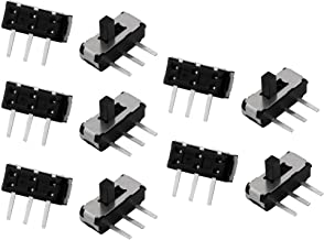 uxcell 10pcs 2 Position 3P SPDT SMT SMD Self Locking Mini Power Slide Switch 9mmx3mmx3mm