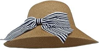 BEIXI ちょう結びを持つ女性のための日曜日の帽子Boater Hat (色 : コーヒー, サイズ : 56-58CM)