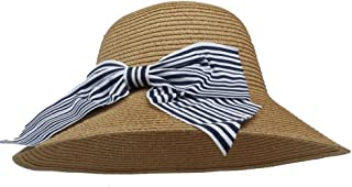 Lei Zhang Sun Hat For Women With Bowknot straw boater hat