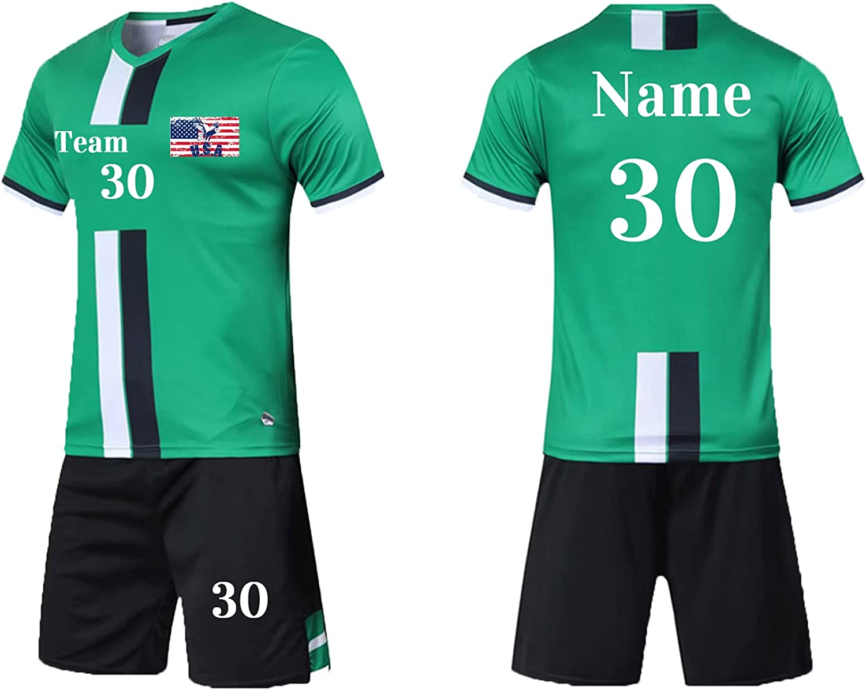 Custom Kid Soccer Jersey Personalized Youth Short Set Boy Girl Training Uniform Name Number