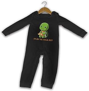 "Turtles I""m On The-Ninja-Diet Sommer Langarm Mädchen Jungen Baby Strampler Baumwolle Neugeborene Säugling Body Baby Pyjama"