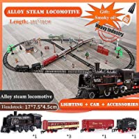 電車のおもちゃRailsのダイナミックスチームトレイン鉄道模型セットProfissional Autoramaカーサーキット子供のおもちゃを鋳造午前1時43スケールダイ (色 : D)