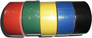 Apollo 36 Mm (1.4 Inch X 6 Yards) Self Adhesive Cloth Gum Tape Binding Tape Colour Tape Masking Tape Opp Tape For Book Bin...