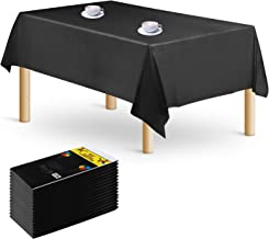 16-Pack Rectangle Plastic Tablecloth – Premium Disposable Table Cloths Table Covers 54