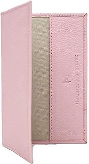 Porta pasaporte palo de rosa de piel, hecho en piel, práctico diseño mexicano
