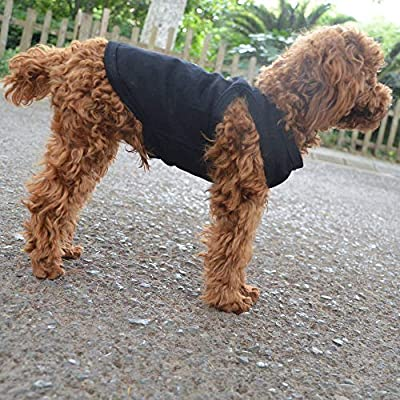 lovelonglong 2020 Pet Clothes Dog Clothing Blank T-shirt Tanks Top Vests For Small Middle Large Size Dogs 100% Cotton Dog Summer Vest Classic Black XL