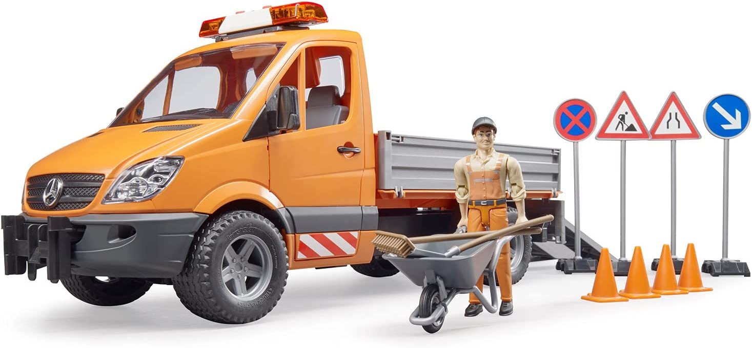 Bruder 02537 New mail Great interest order MB Sprinter Municipal with Module Acc Worker LS +