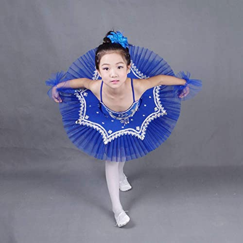JIE. Costume de Danse de Ballet-Petit Swan Lake Tutu Enfant Ballet Tutu Jupe,bleu,110cm