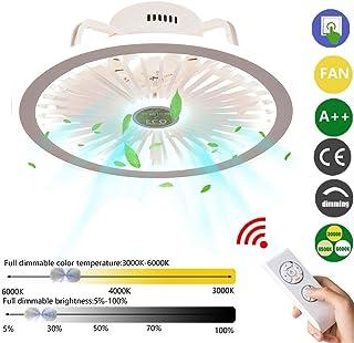 Ventilador de Techo con Lámpara, Ventilador De Techo LED Control Remoto Regulable Ventilador Invisible Ultra Silencioso Tiempo Ventilador de Techo con luz Plafón con ventilados (Color : White)