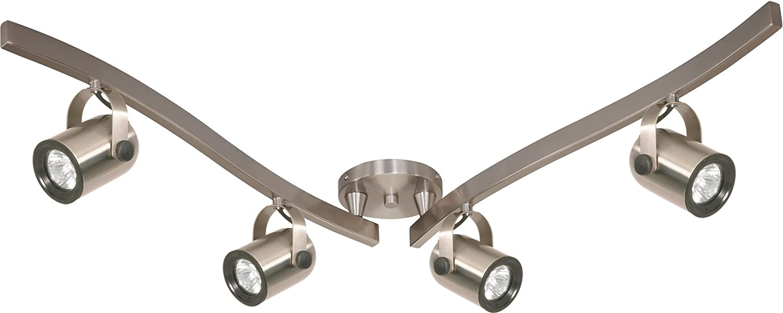 Nuvo Lighting TK384 Four Light MR16 Swivel Track Light in Brushed Nickel
