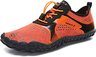 MARITONY Water Hiking Shoes for Men, Lightweight Quick Dry Barefoot Socks Water Aerobic Swim Shoes with Toes, Water Sneaker for Beach Diving Surf