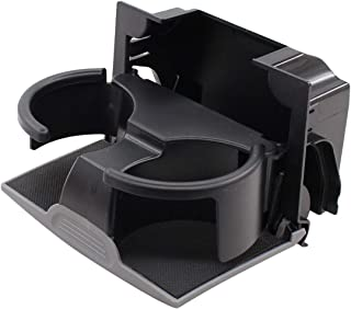 NewYall Gray Rear Seat Center Console Cup Holder