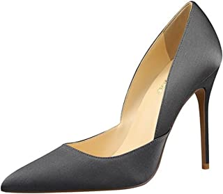 PPXID Women's Fashion Satins Pointed-Toe High Heels Pumps Party Stilettos