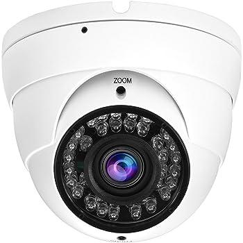 Sortie TVI par D/éfaut Lense Varifocale 2.8-12mm HD 1080P Cam/éra CCTV Hybride 2MP TVI // CVI // AHD // CVBS 4 en 1 Vision Nocturne Coupe IR Cam/éra de Surveillance IP66 /Étanche Int/érieure // Ext/érieure 36 LED IR