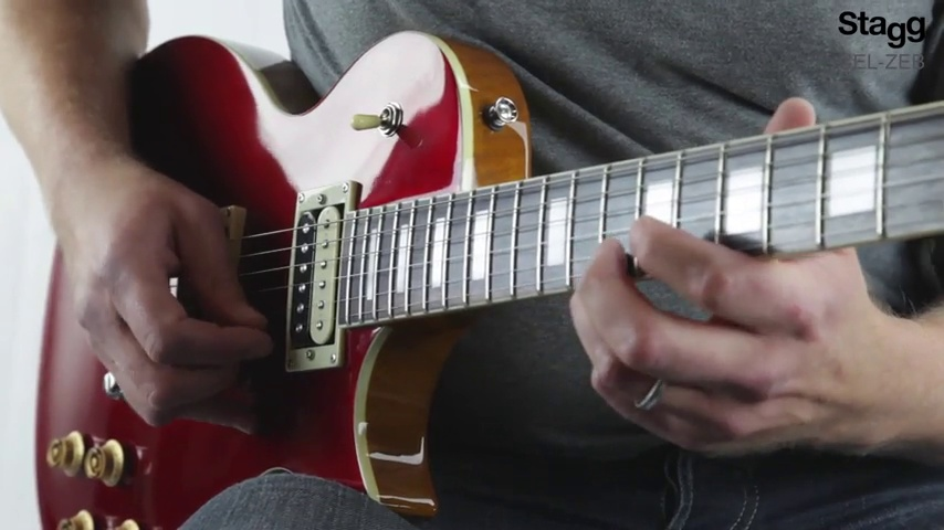 Stagg SEL-ZEB-HB L Series Zebra Electric Guitar Honeyburst