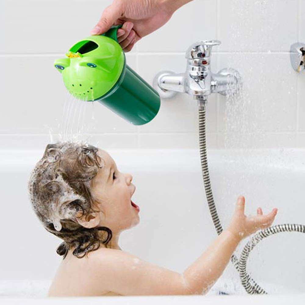 Topwon Baby Dippers Bath Rinse Cup Baby Bath Cup Shampoo Rinser Shampoo Rinse Cup Baby Bath Rinser Pail to Wash Hair & Wash Out Shampoo by Protecting Infant Toddler Eyes