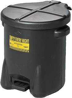 Oily Waste Can, 14 Gal, Polyethylene, Black