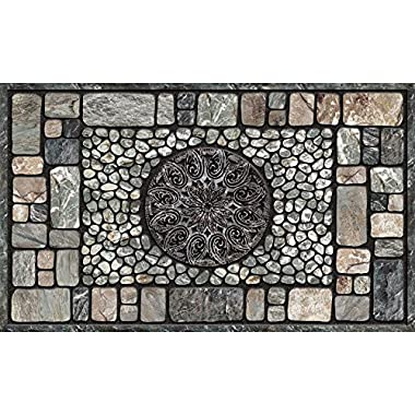 Masterpiece Notre Dame Door Mat, Gray, 18-Inch by 30-Inch
