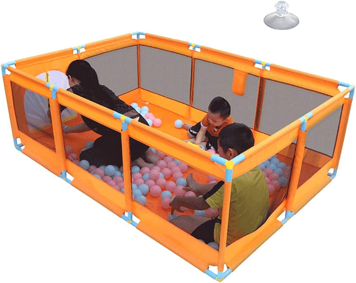 Portable Baby Playpen Foldable Playard Activity Center Infant Playard Indoor Nursury Center Play on the Go Playard (Size   Without basket box)