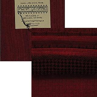 Primitive Gatherings Hand Dyed Wool Primitive 3 Charm Pack 10 5-inch Squares Moda Fabrics PRI 6027