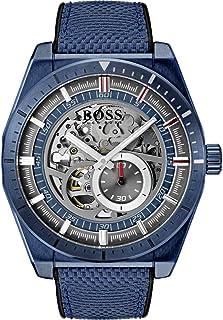 Hugo Boss Mens Quartz Watch, Chronograph Display and Leather Strap 1513645