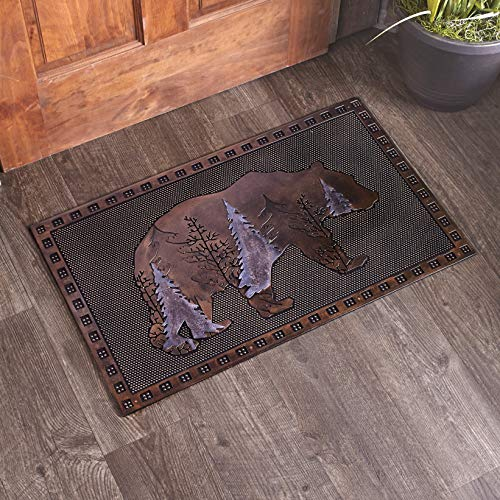 The Lakeside Collection Wildlife Rubber Doormat for Year Round Indoor/Outdoor Decoration - Bear