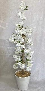 شجرة اصطناعية من اشجار الورد الابيض ارتفاع 120سم لزينة ديكور المنزل و الحديقة