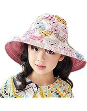 84eeaf06923cf  クロ アーダー  とっても かわいい つば広 リバーシブル ハット 女の子 キッズ ガールズ アニマル 柄