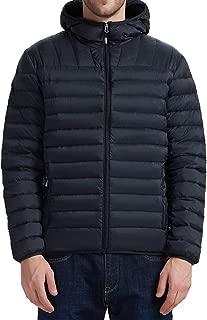 YIRUIYA Men's Packable Winter Down Jacket Winter Lightweight Hooded Puffer Jacket Coat