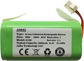 AnhoTech Replacement Battery Compatible with Ecovacs Deebot N79S, 500, N79, DN622 and Eufy RoboVac 11S, 30, 30C Robot Vacuum Cleaners, 2600mAh, 14.4v