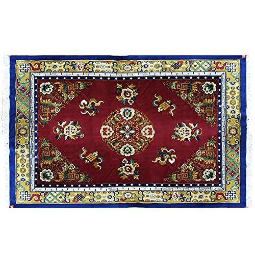 """Tapis de zone, tapis de la région tibétaine Tapis noué à la main, Tapis de laine, Chaussures de décoration intérieure, tapis de cachemire, tapis vintage traditionnel ( Size : 106.3×78.8"""" )"""