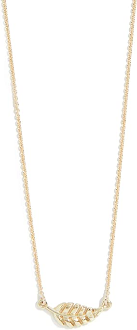 Jennifer Meyer Jewelry Women's 18k Gold Mini Leaf Necklace